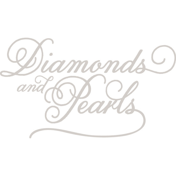 Logoen til Diamonds and Pearls i grått