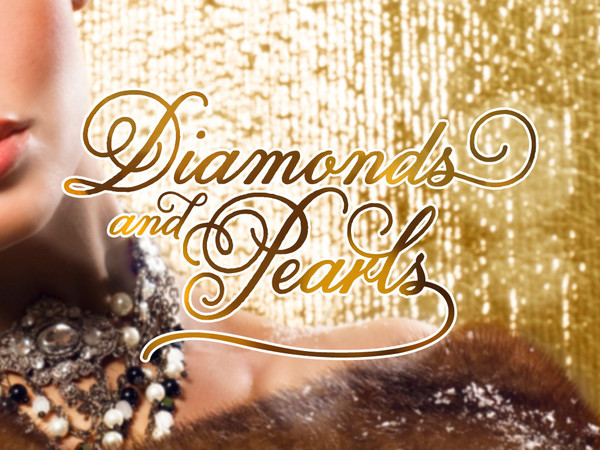 "Hjerteformet logo til panelkolleksjonen ""Diamonds and Pearls"""