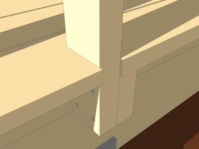 Bygge rekkverk med liggende spiler